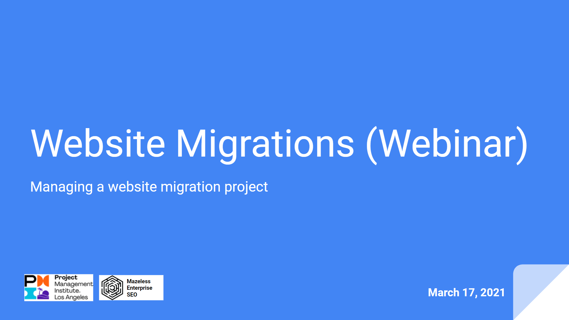 Website Migration Webinar Screenshot